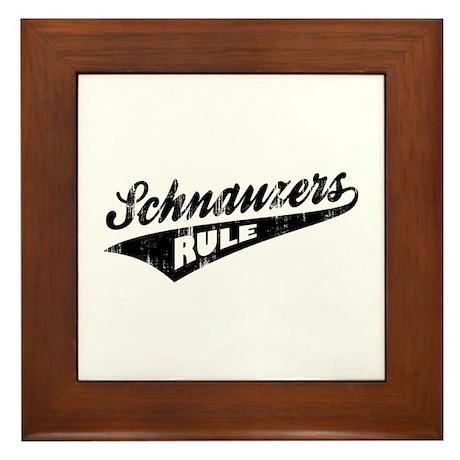 Schnauzers Rule Framed Tile