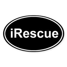 iRescue Black Oval Decal