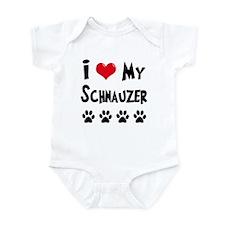 I Love My Schanuzer Infant Bodysuit