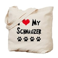 I Love My Schanuzer Tote Bag