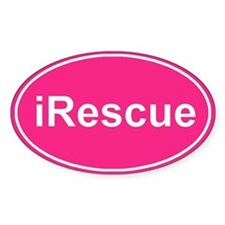iRescue Pink Oval Decal