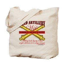 Army Field Artillery Wife FA Tote Bag