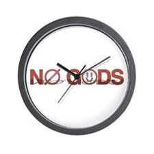 No Gods Wall Clock