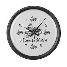 Snowmobile Clocks Large Wall Clock