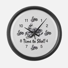 Snowmobile Clocks Large Wall Clock