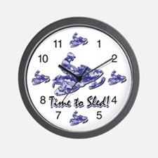 Snowmobile Clocks Wall Clock