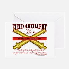 Army Field Artillery Mom FA Greeting Card