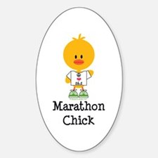 Marathon Chick 26.2 Sticker (Oval)