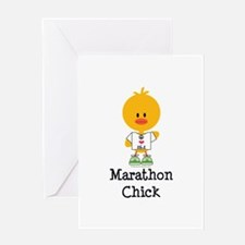 Marathon Chick 26.2 Greeting Card