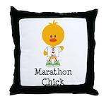 Marathon Chick 26.2 Throw Pillow