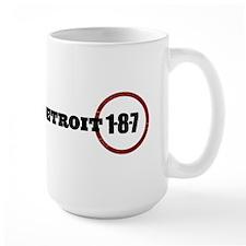 Detroit 1-8-7 Red Mug