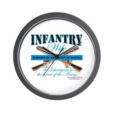 Infantry Wife IN Infantryman Wall Clock