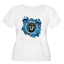 Blue Snowflakes - Kelpie T-Shirt