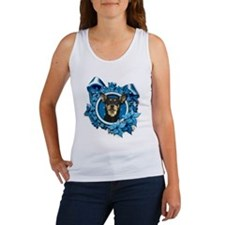 Blue Snowflakes - Kelpie Women's Tank Top
