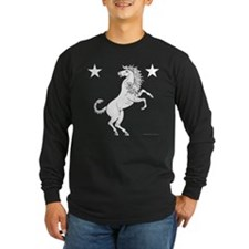 Meridies Populace Badge Long Sleeve Dark T-Shirt