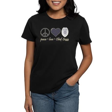 Peace Love Chief Swan Women's Dark T-Shirt