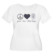 Peace Love Chief Swan T-Shirt