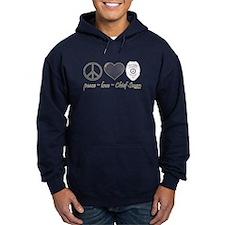 Peace Love Chief Swan Hoodie