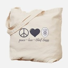 Peace Love Chief Swan Tote Bag