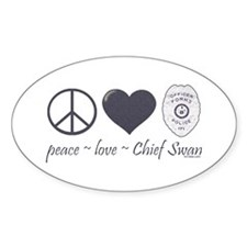 Peace Love Chief Swan Decal