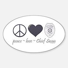 Peace Love Chief Swan Decal