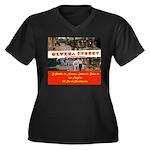 Olvera Street Women's Plus Size V-Neck Dark T-Shir