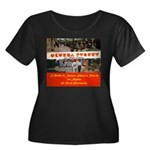 Olvera Street Women's Plus Size Scoop Neck Dark T-