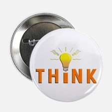 """Think 2.25"""" Button (100 pack)"""