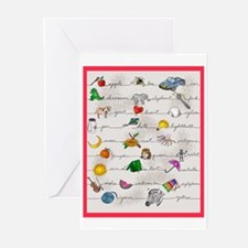 Illustrated Alphabet Greeting Cards (Pk of 10)