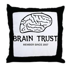 Brain Trust Throw Pillow