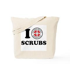 I Love Scrubs Tote Bag