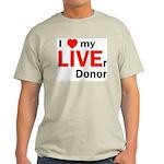 Live Liver Donor Ash Grey T-Shirt