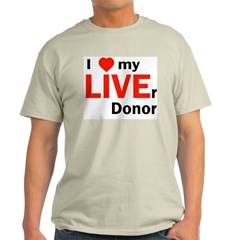 Live Liver Donor Ash Grey T-Shirt