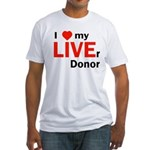 Live Liver Donor Fitted T-Shirt