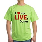 Live Liver Donor Green T-Shirt