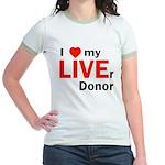 Live Liver Donor Jr. Ringer T-Shirt