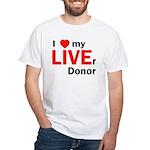 Live Liver Donor White T-Shirt