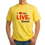 Live Liver Donor Yellow T-Shirt