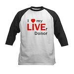 Live Liver Donor Kids Baseball Jersey