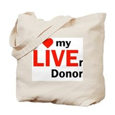 Live Liver Donor Tote Bag