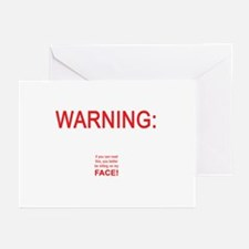 Warning: If you can read this ... Greeting Cards (