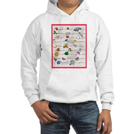 Illustrated Alphabet Hooded Sweatshirt