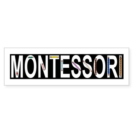Montessori Math Beads Sticker (Bumper)