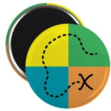 "Geocaching Buttons and Magnet 2.25"" Magnet (10 pac"