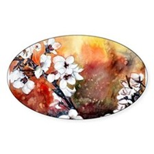 Japanese cherry blossom flowe Decal