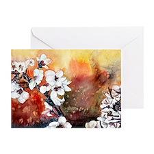 Japanese cherry blossom flowe Greeting Card