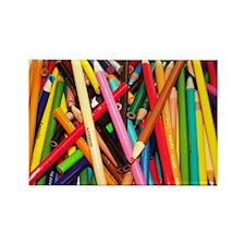 Coloured Pencil Rectangle Magnet