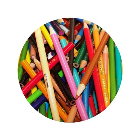 """Coloured Pencil 3.5"""" Button (100 pack)"""