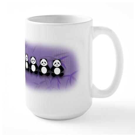 Line of Pandas Large Mug