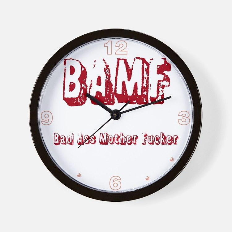 Bad Ass Mother Fucker Wall Clock